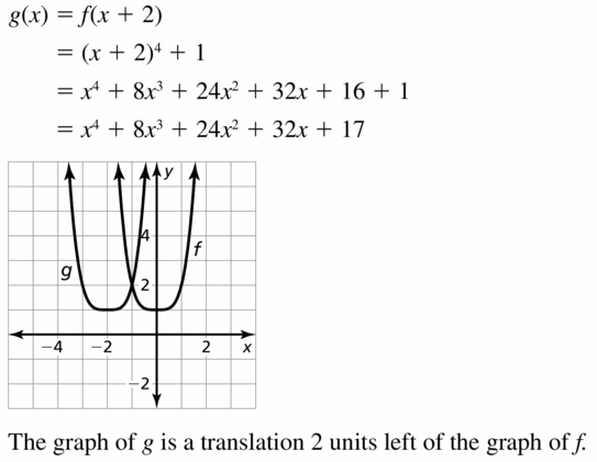 Big Ideas Math Algebra 2 Answers Chapter 4 Polynomial Functions 4.7 Question 17