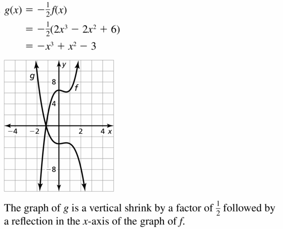 Big Ideas Math Algebra 2 Answers Chapter 4 Polynomial Functions 4.7 Question 19