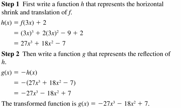 Big Ideas Math Algebra 2 Answers Chapter 4 Polynomial Functions 4.7 Question 25
