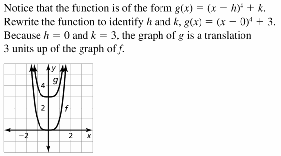 Big Ideas Math Algebra 2 Answers Chapter 4 Polynomial Functions 4.7 Question 3