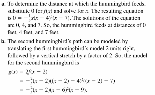 Big Ideas Math Algebra 2 Answers Chapter 4 Polynomial Functions 4.7 Question 31