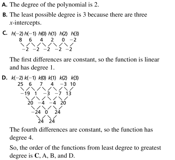 Big Ideas Math Algebra 2 Answers Chapter 4 Polynomial Functions 4.9 a 23