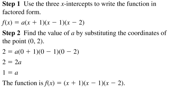 Big Ideas Math Algebra 2 Answers Chapter 4 Polynomial Functions 4.9 a 3