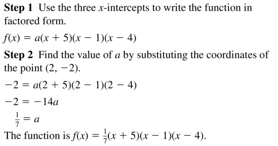 Big Ideas Math Algebra 2 Answers Chapter 4 Polynomial Functions 4.9 a 5