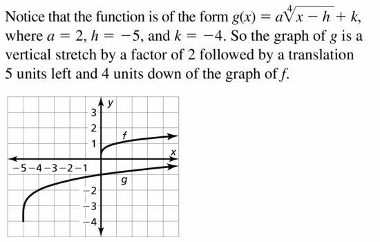 Big Ideas Math Algebra 2 Answers Chapter 5 Rational Exponents and Radical Functions 5.3 Question 25