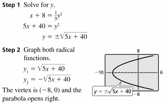 Big Ideas Math Algebra 2 Answers Chapter 5 Rational Exponents and Radical Functions 5.3 Question 55