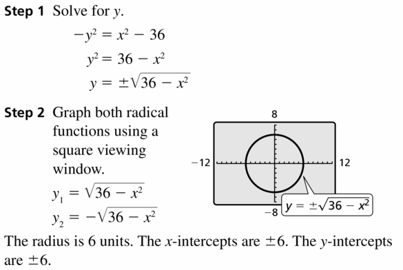 Big Ideas Math Algebra 2 Answers Chapter 5 Rational Exponents and Radical Functions 5.3 Question 61