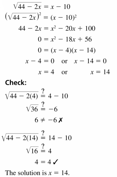 Big Ideas Math Algebra 2 Answers Chapter 5 Rational Exponents and Radical Functions 5.4 Question 17