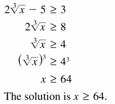 Big Ideas Math Algebra 2 Answers Chapter 5 Rational Exponents and Radical Functions 5.4 Question 37