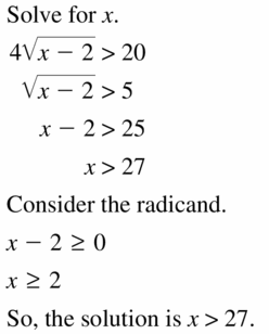 Big Ideas Math Algebra 2 Answers Chapter 5 Rational Exponents and Radical Functions 5.4 Question 39