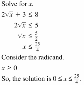 Big Ideas Math Algebra 2 Answers Chapter 5 Rational Exponents and Radical Functions 5.4 Question 41