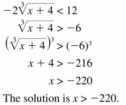 Big Ideas Math Algebra 2 Answers Chapter 5 Rational Exponents and Radical Functions 5.4 Question 43