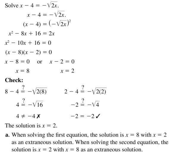 Big Ideas Math Algebra 2 Answers Chapter 5 Rational Exponents and Radical Functions 5.4 Question 55.2