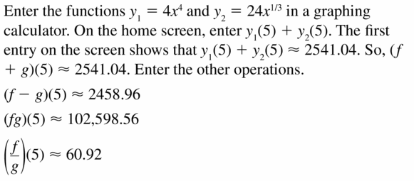 Big Ideas Math Algebra 2 Answers Chapter 5 Rational Exponents and Radical Functions 5.5 Question 13