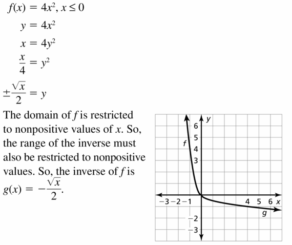 Big Ideas Math Algebra 2 Answers Chapter 5 Rational Exponents and Radical Functions 5.6 Question 23