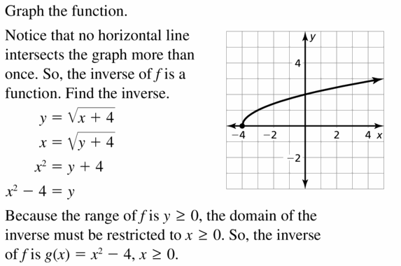Big Ideas Math Algebra 2 Answers Chapter 5 Rational Exponents and Radical Functions 5.6 Question 37