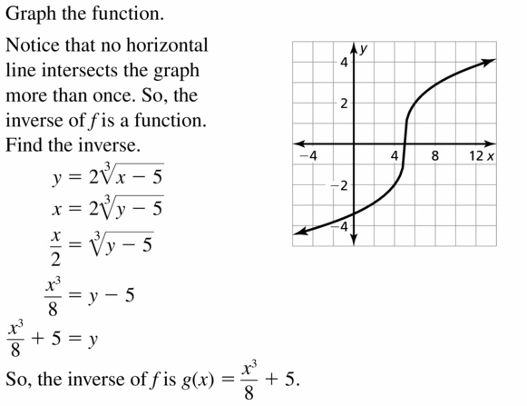 Big Ideas Math Algebra 2 Answers Chapter 5 Rational Exponents and Radical Functions 5.6 Question 39