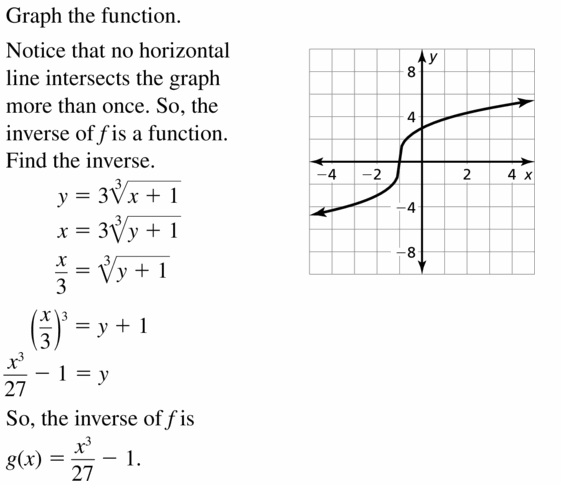 Big Ideas Math Algebra 2 Answers Chapter 5 Rational Exponents and Radical Functions 5.6 Question 43