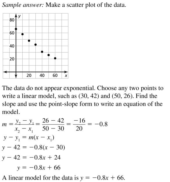 Big Ideas Math Algebra 2 Answers Chapter 6 Exponential and Logarithmic Functions 6.7 a 23