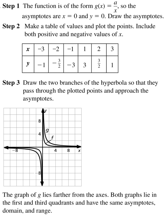 Big Ideas Math Algebra 2 Answers Chapter 7 Rational Functions 7.2 a 3