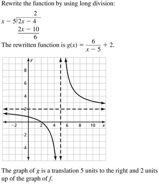 Big Ideas Math Algebra 2 Answers Chapter 7 Rational Functions 7.2 a 35