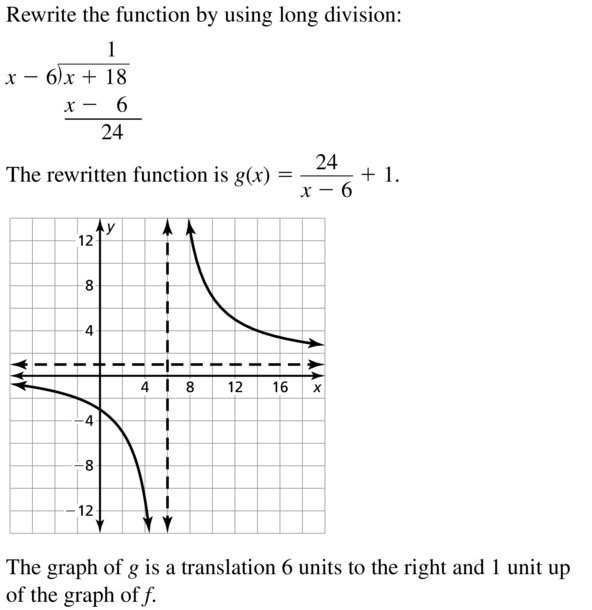 Big Ideas Math Algebra 2 Answers Chapter 7 Rational Functions 7.2 a 37