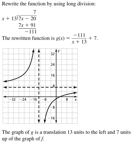 Big Ideas Math Algebra 2 Answers Chapter 7 Rational Functions 7.2 a 39