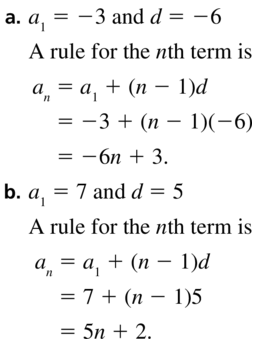 Big Ideas Math Algebra 2 Answers Chapter 8 Sequences and Series 8.2 a 11