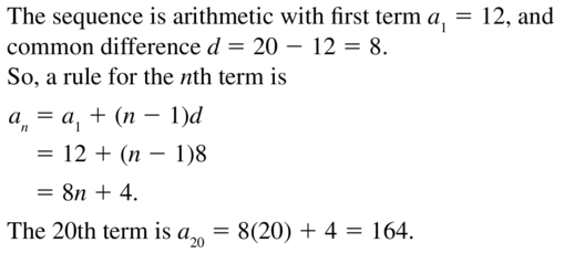 Big Ideas Math Algebra 2 Answers Chapter 8 Sequences and Series 8.2 a 13