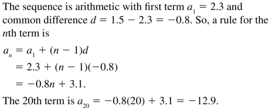 Big Ideas Math Algebra 2 Answers Chapter 8 Sequences and Series 8.2 a 19