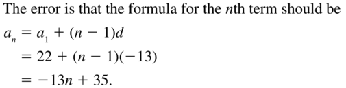 Big Ideas Math Algebra 2 Answers Chapter 8 Sequences and Series 8.2 a 21