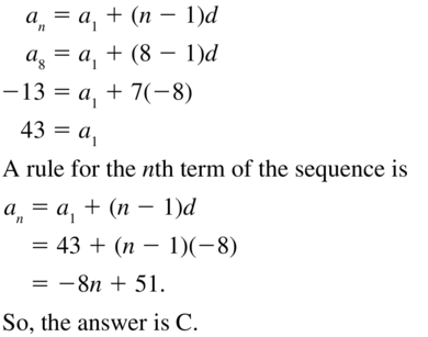 Big Ideas Math Algebra 2 Answers Chapter 8 Sequences and Series 8.2 a 29