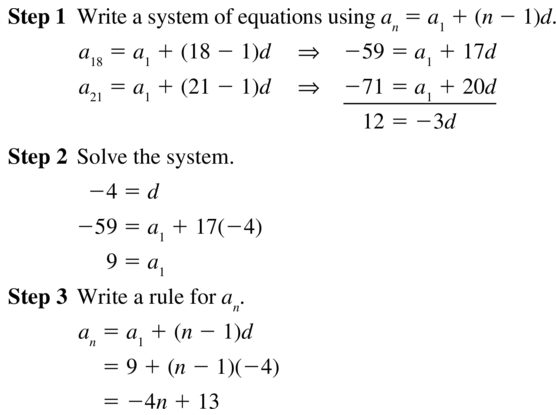 Big Ideas Math Algebra 2 Answers Chapter 8 Sequences and Series 8.2 a 35