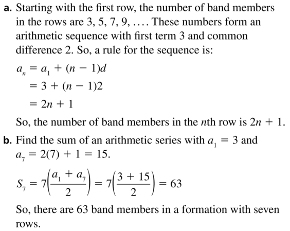 Big Ideas Math Algebra 2 Answers Chapter 8 Sequences and Series 8.2 a 55