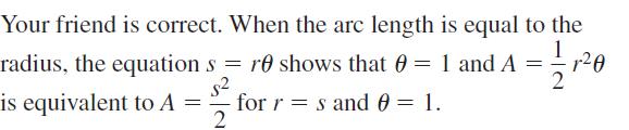 Big Ideas Math Algebra 2 Answers Chapter 9 Trigonometric Ratios and Functions 9.2 a 45