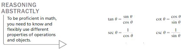 Big Ideas Math Algebra 2 Answers Chapter 9 Trigonometric Ratios and Functions 9.7 3