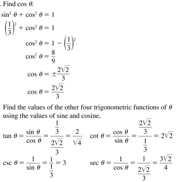 Big Ideas Math Algebra 2 Answers Chapter 9 Trigonometric Ratios and Functions 9.7 a 3