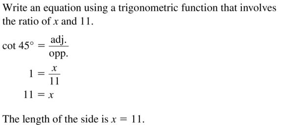 Big Ideas Math Algebra 2 Answers Chapter 9 Trigonometric Ratios and Functions 9.7 a 41