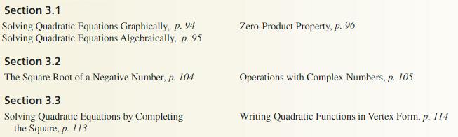 Big Ideas Math Algebra 2 Solutions Chapter 3 Quadratic Equations and Complex Numbers 3.3 19