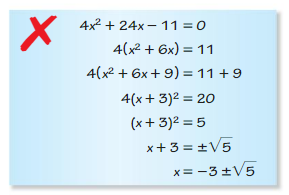 Big Ideas Math Algebra 2 Solutions Chapter 3 Quadratic Equations and Complex Numbers 3.3 7