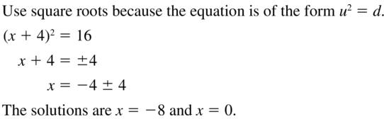 Big Ideas Math Algebra 2 Solutions Chapter 3 Quadratic Equations and Complex Numbers 3.3 a 43
