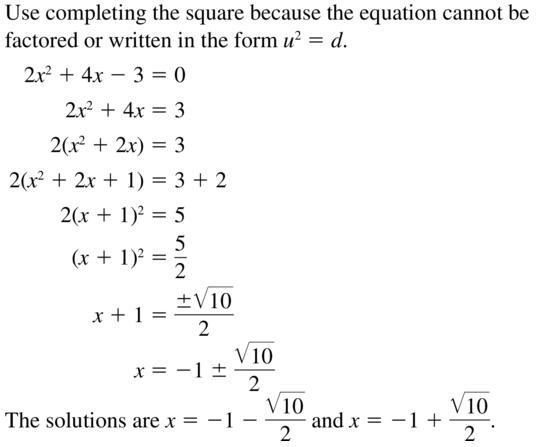 Big Ideas Math Algebra 2 Solutions Chapter 3 Quadratic Equations and Complex Numbers 3.3 a 47