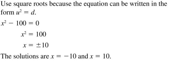 Big Ideas Math Algebra 2 Solutions Chapter 3 Quadratic Equations and Complex Numbers 3.3 a 49