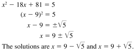 Big Ideas Math Algebra 2 Solutions Chapter 3 Quadratic Equations and Complex Numbers 3.3 a 5