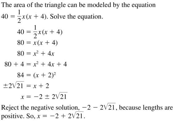 Big Ideas Math Algebra 2 Solutions Chapter 3 Quadratic Equations and Complex Numbers 3.3 a 53