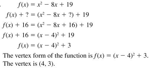 Big Ideas Math Algebra 2 Solutions Chapter 3 Quadratic Equations and Complex Numbers 3.3 a 55