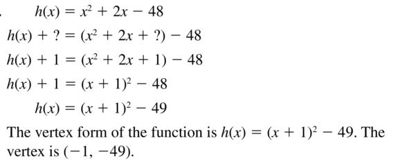 Big Ideas Math Algebra 2 Solutions Chapter 3 Quadratic Equations and Complex Numbers 3.3 a 59