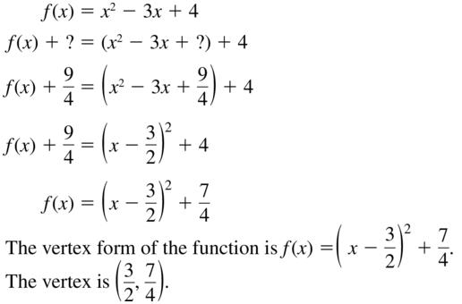 Big Ideas Math Algebra 2 Solutions Chapter 3 Quadratic Equations and Complex Numbers 3.3 a 61