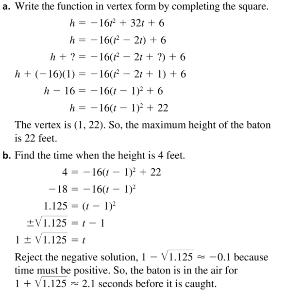 Big Ideas Math Algebra 2 Solutions Chapter 3 Quadratic Equations and Complex Numbers 3.3 a 63