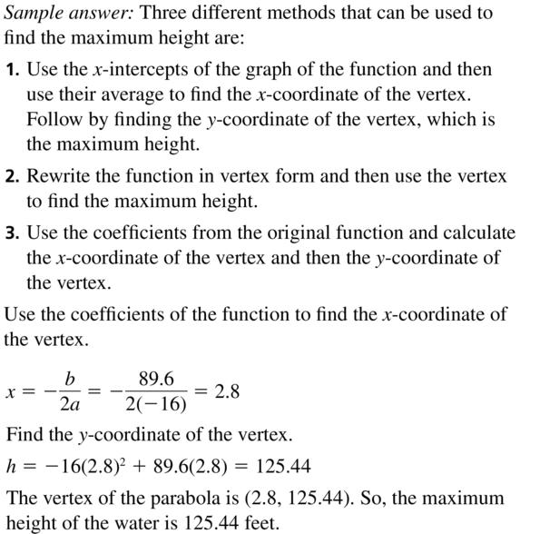 Big Ideas Math Algebra 2 Solutions Chapter 3 Quadratic Equations and Complex Numbers 3.3 a 67